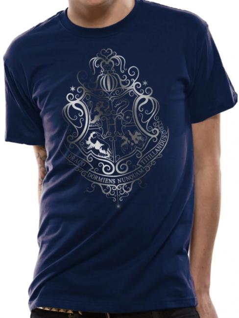 T-PAITA - HARRY POTTER - SILVER FOIL CREST  -painatus valitsemaasi paitaan