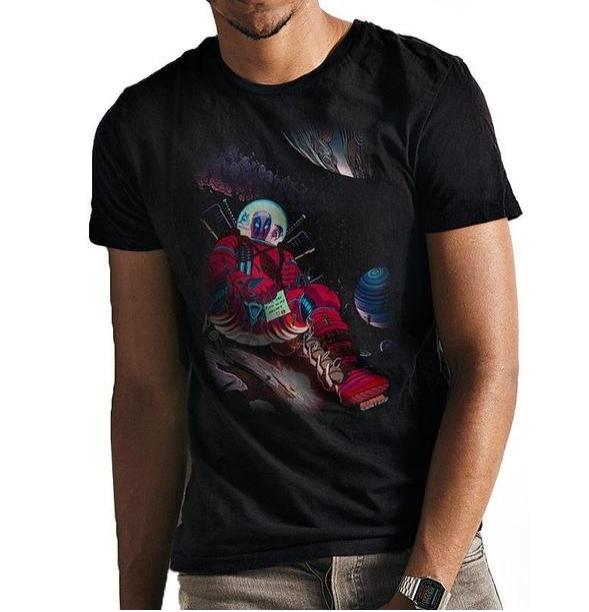 T-PAITA - DEADPOOL - IN SPACE  -painatus valitsemaasi paitaan