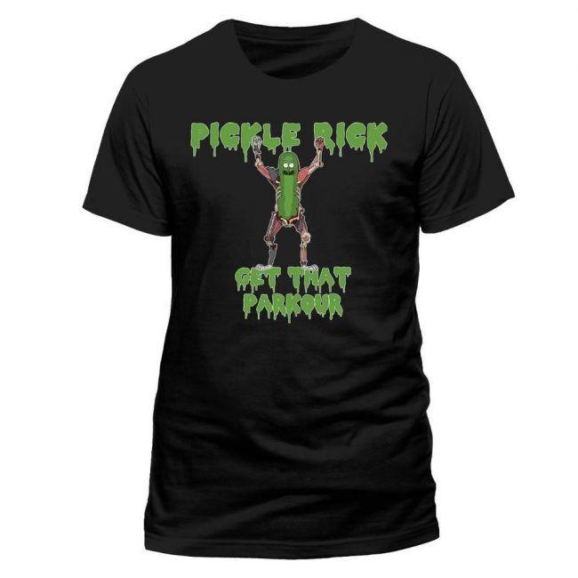 T-PAITA - RICK & MORTY - PARKOUR  -painatus valitsemaasi paitaan