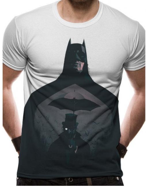 T-PAITA - BATMAN - SILHOUETTE  -painatus valitsemaasi paitaan