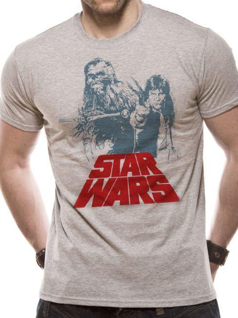 T-PAITA - STAR WARS - SOLO CHEWIE  -painatus valitsemaasi paitaan
