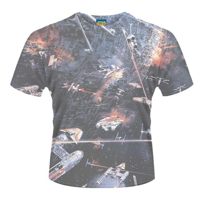 T-PAITA - STAR WARS - HUGE SPACE BATTLE  -painatus valitsemaasi paitaan