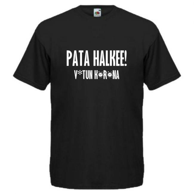 T-PAITA  PATA HALKEE! V*TUN KORONA musta (88260)