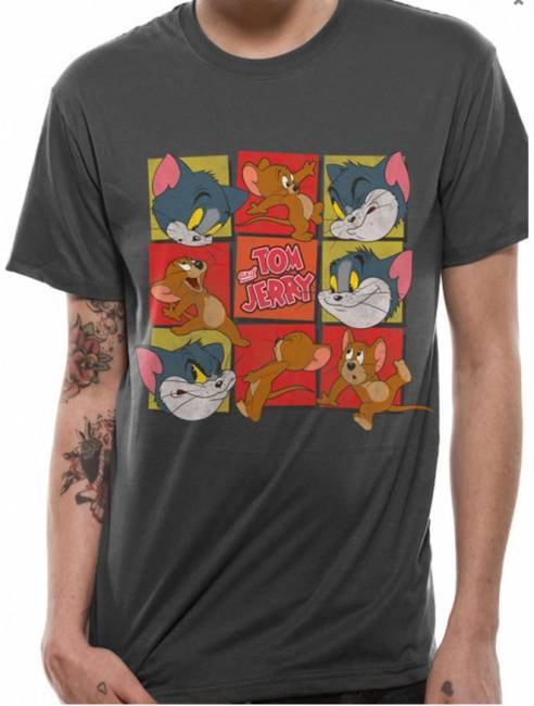 T-PAITA - TOM & JERRY - SQUARES  -painatus valitsemaasi paitaan