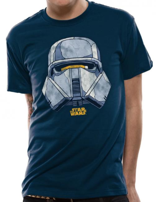 T-PAITA - STAR WARS - TROOPER HELMET  -painatus valitsemaasi paitaan
