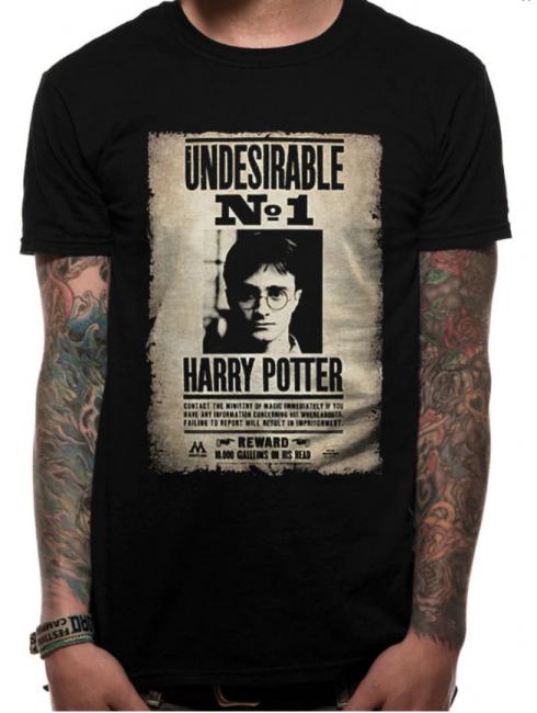 T-PAITA - HARRY POTTER - UNDESIRABLE NO.1  -painatus valitsemaasi paitaan