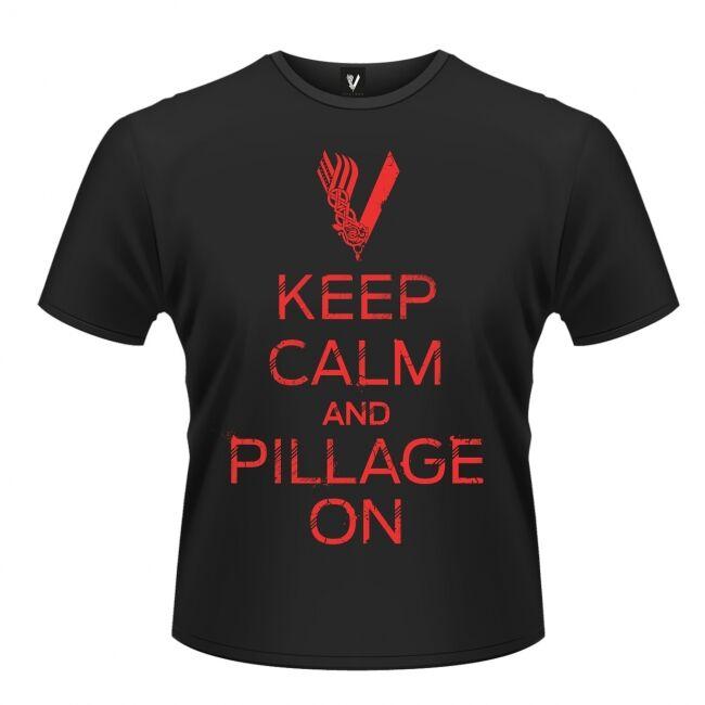 T-PAITA - VIKINGS - KEEP CALM  -painatus valitsemaasi paitaan