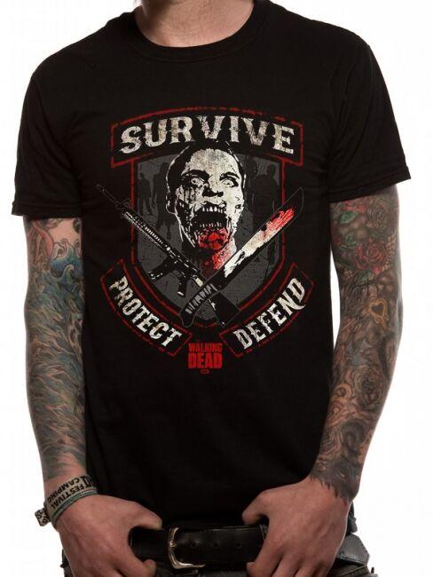 T-PAITA - WALKING DEAD - SURVIVE  -painatus valitsemaasi paitaan