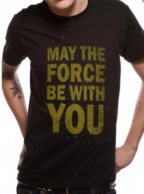 T-PAITA - STAR WARS - FORCE TEXT  -painatus valitsemaasi paitaan