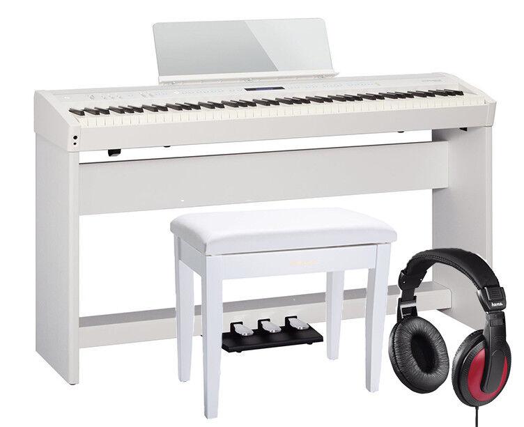 Roland FP-60 White  Set - teline, penkki ja kuulokkeet
