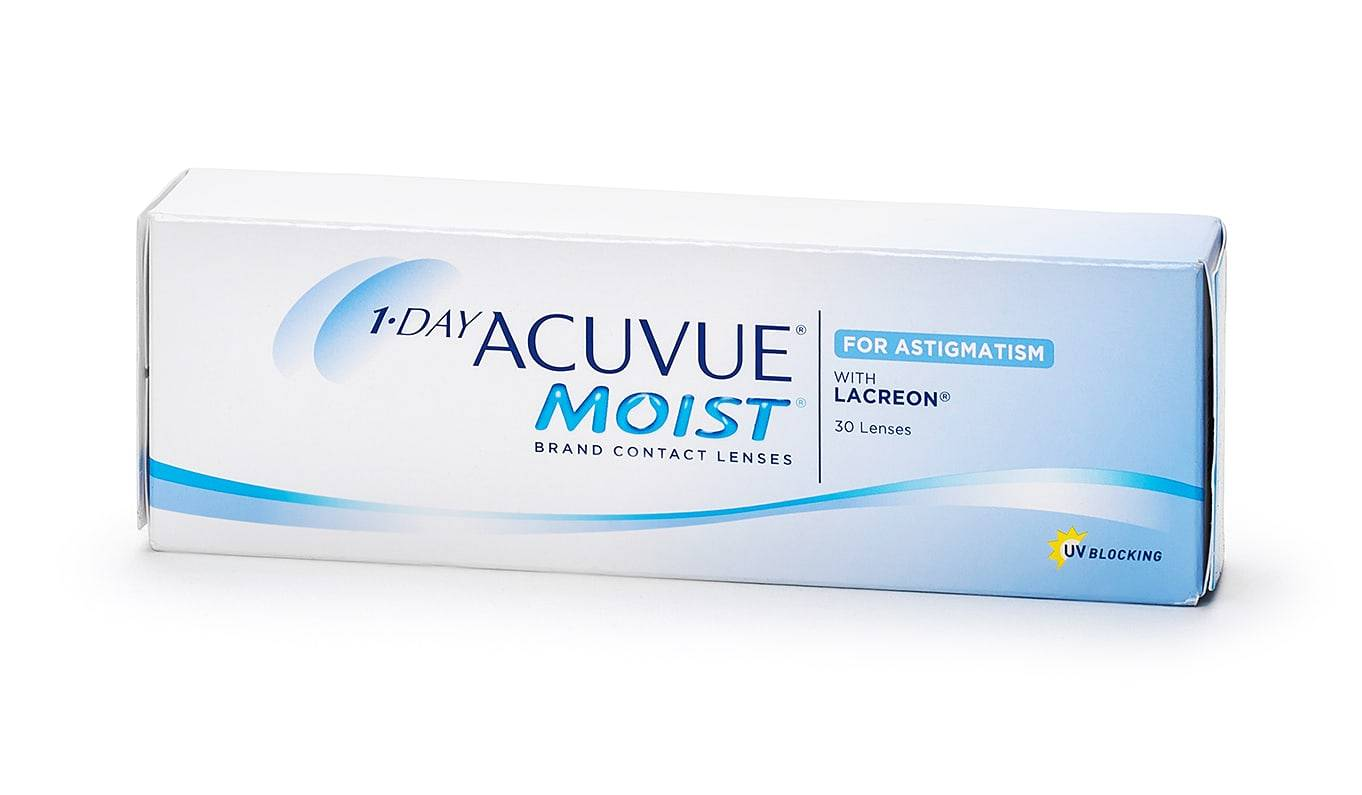 Image of Johnson & Johnson 1-Day Acuvue Moist for Astigmatism Piilolinssit