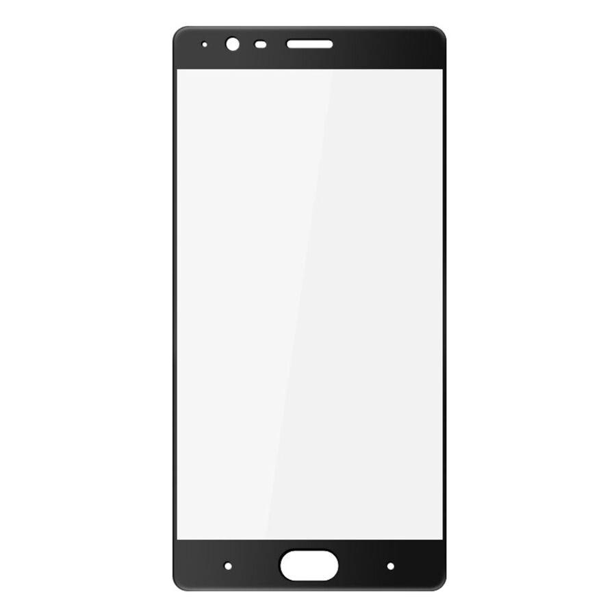 Puhelimenkuoret.fi OnePlus 3 / 3T Koko Näytön Peittävä Suojalasi Musta