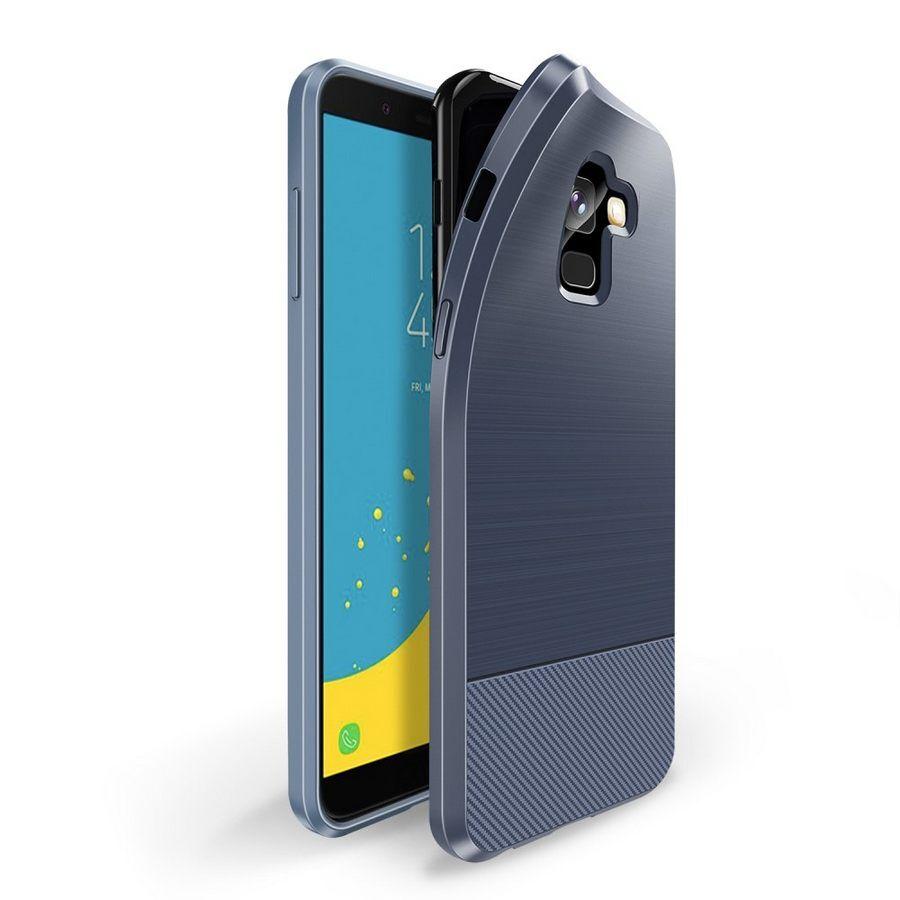 Puhelimenkuoret.fi Samsung Galaxy J6 (2018) Suojakuori Dux Mojo Tummansininen