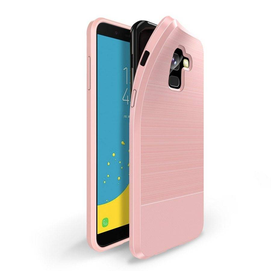 Puhelimenkuoret.fi Samsung Galaxy J6 (2018) Suojakuori Dux Mojo Vaaleanpunainen
