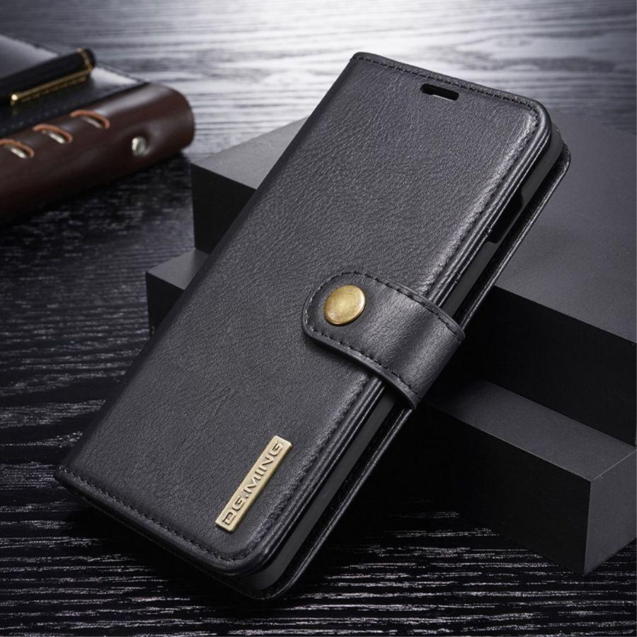 Puhelimenkuoret.fi Samsung Galaxy S10+ 2-in-1 Nahkakotelo DG.MING Musta