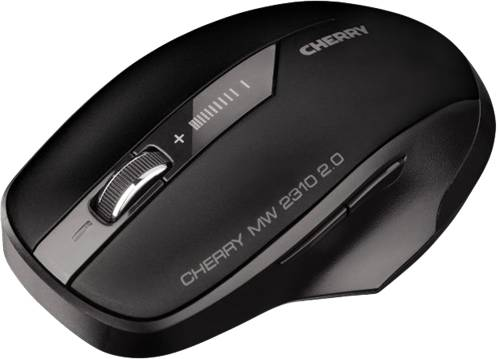 Cherry MW 2310 2.0, Langaton Hiiri, 5 Painiketta, USB-vast.otin, Musta