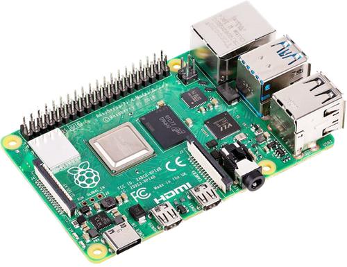 Raspberry Pi 4 Model B, 2 GB RAM, USB-C, Dual Micro HDMI