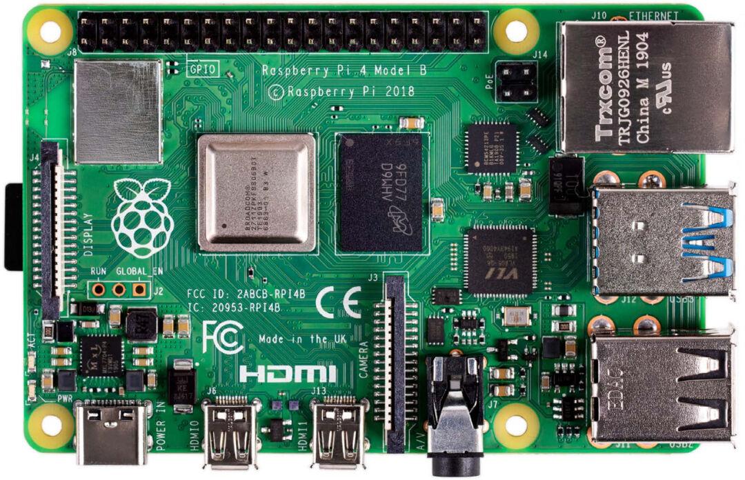Raspberry Pi 4 Model B, 4 GB RAM, USB-C, Dual Micro HDMI