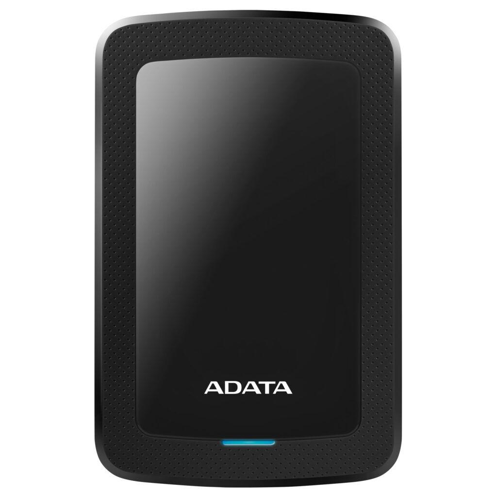 A-Data ADATA 2TB External Hard Drive, 10,3mm, USB 3.1, Quick Start, Black