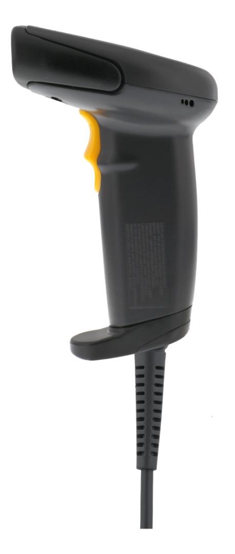 Deltaco CCD-viivakoodinlukija, 500mm Käyttöetäisyys, IP54, USB, Musta
