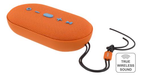 STREETZ Vedenkestävä Bluetooth-kaiutin, 2x5W, IPX5, TWS,BT 4.2,oranssi