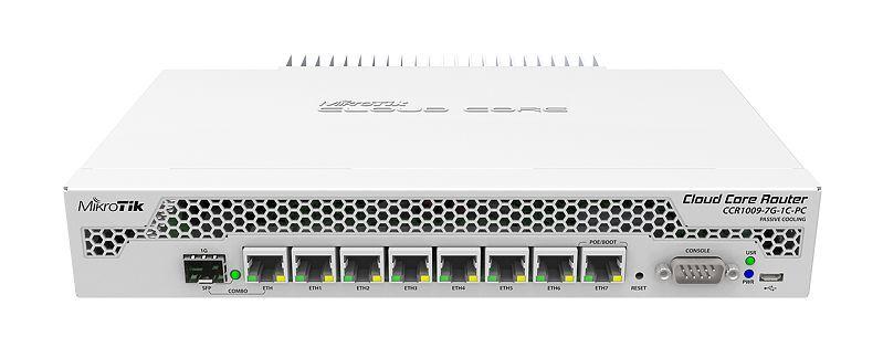 Mikrotik Cloud 9core3 1GB RAM 1xSFP 7GE Ports L6 No Fan
