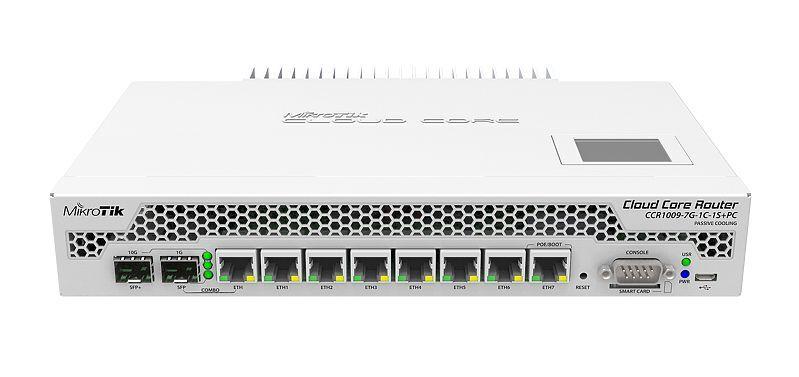 Mikrotik Cloud 9core3 2GB RAM 1xSFP+ 7GE Ports L6 No Fan