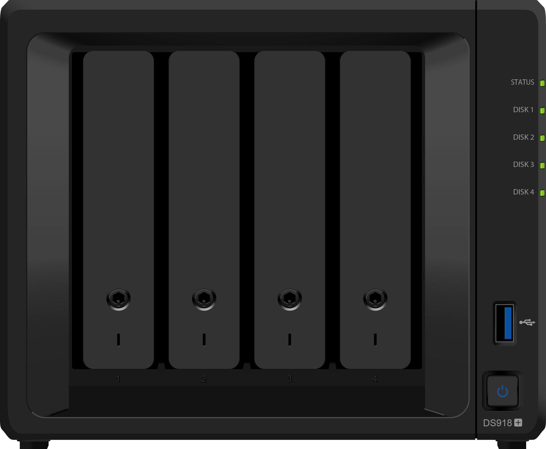 "Synology D3NS1866L-4G NAS, 4x 3,5"", Quad-Core 1,5GGz, 2x GbE, 4GB RAM"