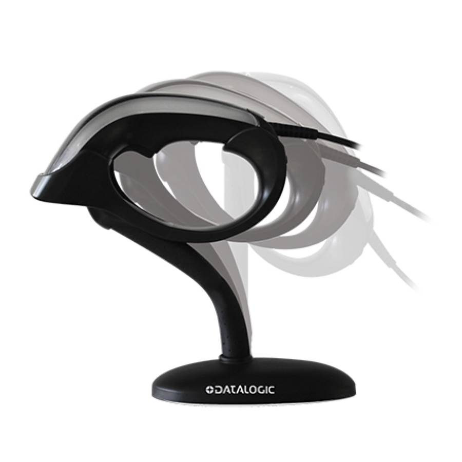 DataLogic Heron Hand Held Scanner, 1D + 2D, Stand, USB, Black