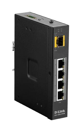 D-Link Switch, 5-Ports, Gigabit, PoE, Plug And Play, SFP, Black