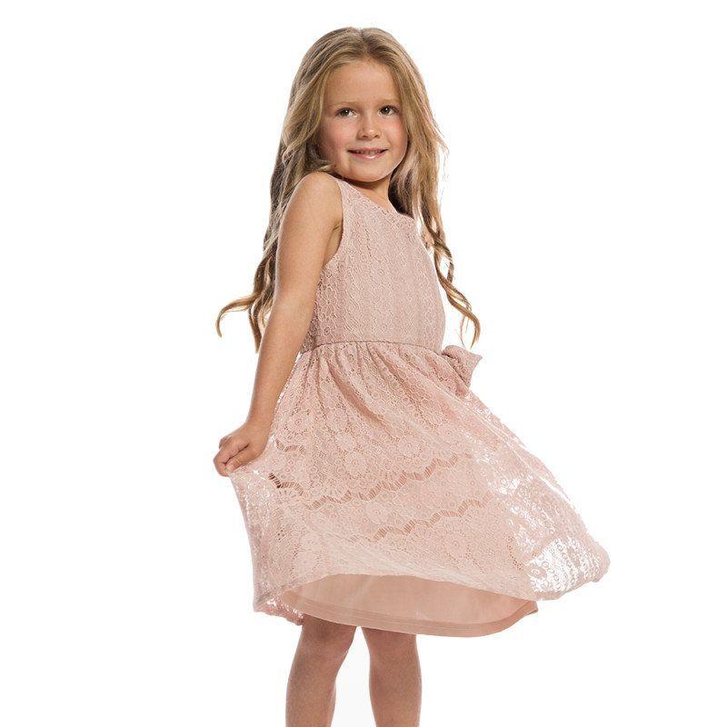 LINDY BOP Lasten Kellomekko, GRACE Pink Lace
