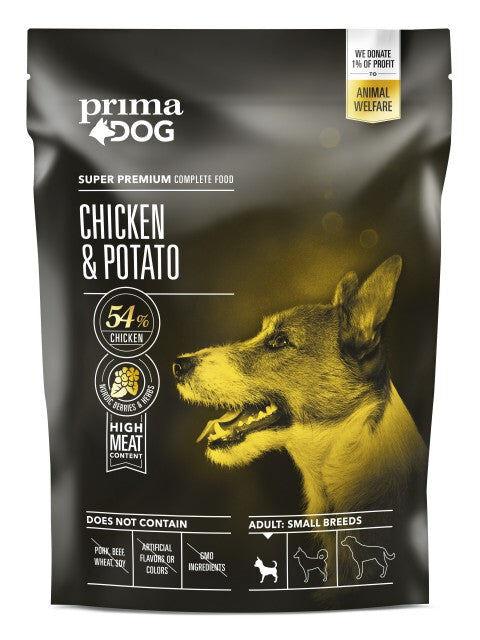 PrimaDog kana-peruna pienelle koiralle 1,5 kg