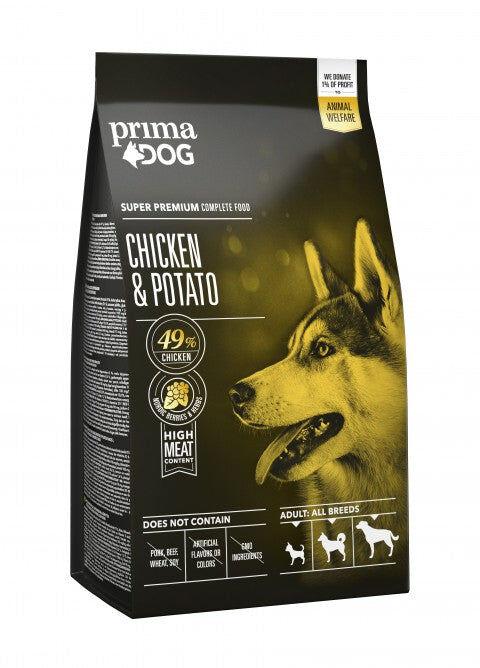 PrimaDog kana-peruna aikuiselle koiralle 2 kg