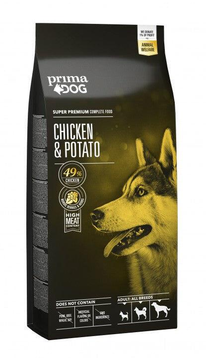 PrimaDog kana-peruna aikuiselle koiralle 12 kg