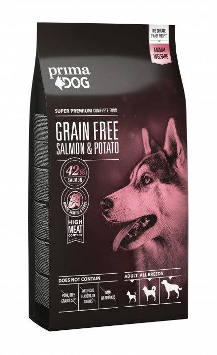PrimaDog viljaton lohi-peruna aikuselle koiralle 12 kg