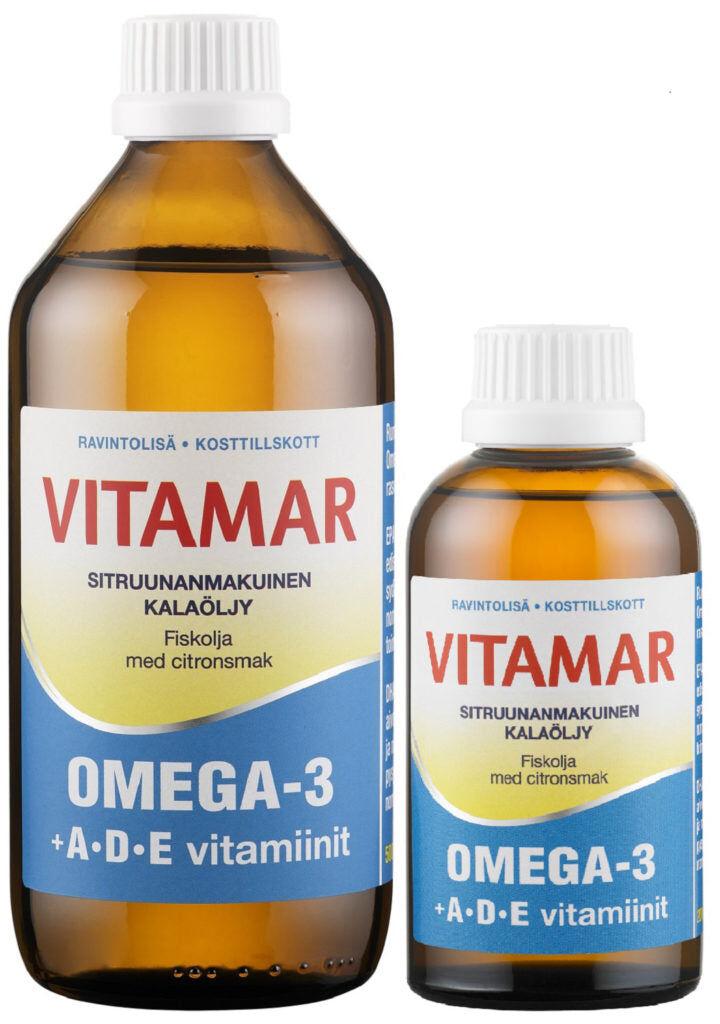 Hankintatukku Vitamar Omega-3 + ADE kalaöljy 200 ml
