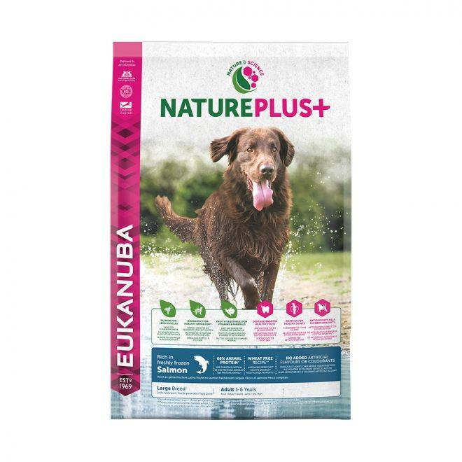 Eukanuba NaturePlus+ Adult Large Salmon 2,3 kg