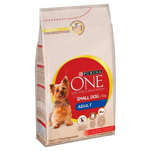 Purina ONE Small Dog Adult nauta ja riisi 1,5 kg
