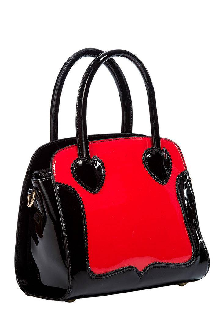 Banned Mustapunainen käsilaukku - Miss Frankie Black & Red