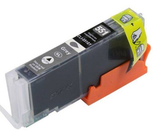 Canon CLI-551GY 6512B001 yhteensopiva Grey värikasetti, Siru valmiina!