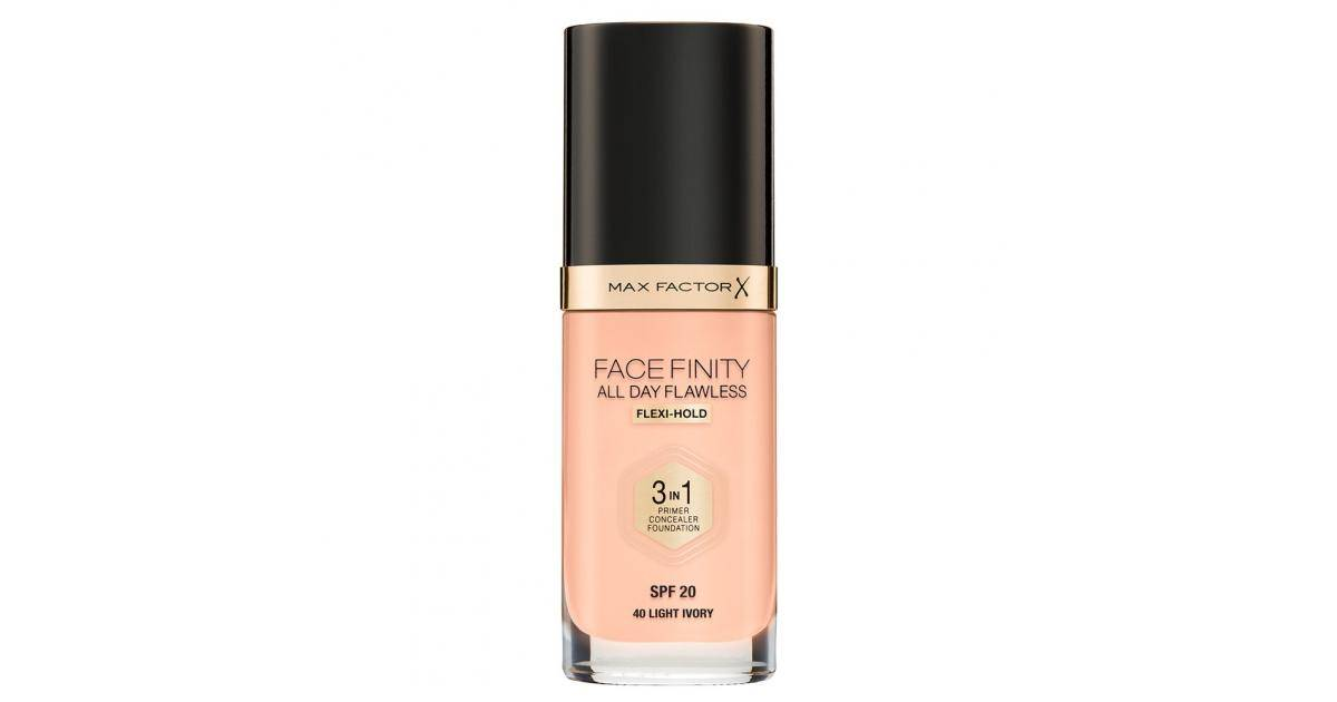 Max Factor Facefinity 3in1 Foundation SPF20 No.40 Light Ivory 30ml