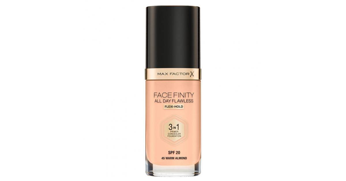 Max Factor Facefinity 3in1 Foundation SPF20 No.45 Warm Almond 30ml