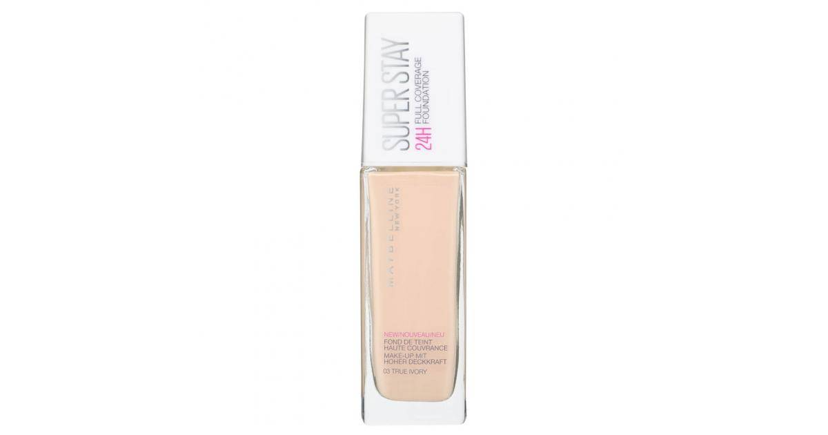 MAYBELLINE Super Stay 24H Full Coverage Foundation No.03 True Ivory 30ml