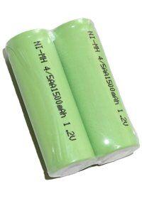 Oral-B 2x 4/5 AA paristo with solder tabs (1500 mAh, Uudelleenladattava)