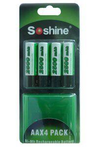 Gillette Soshine 4x AA paristo (2500 mAh, Uudelleenladattava)