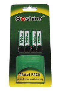 Gillette Soshine 4x AAA paristo (1100 mAh, Uudelleenladattava)