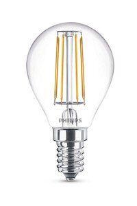 E14 Philips Filament E14 LED-lamput 4W (40W) (Kiilto, Kirkas)