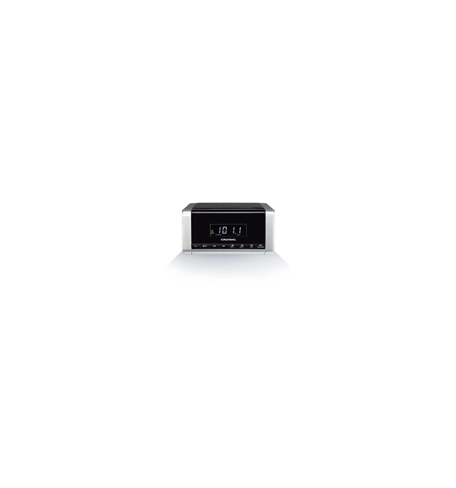 Grundig CCD 5690 PLL Digitaalinen 1,5 W Musta, Hopea