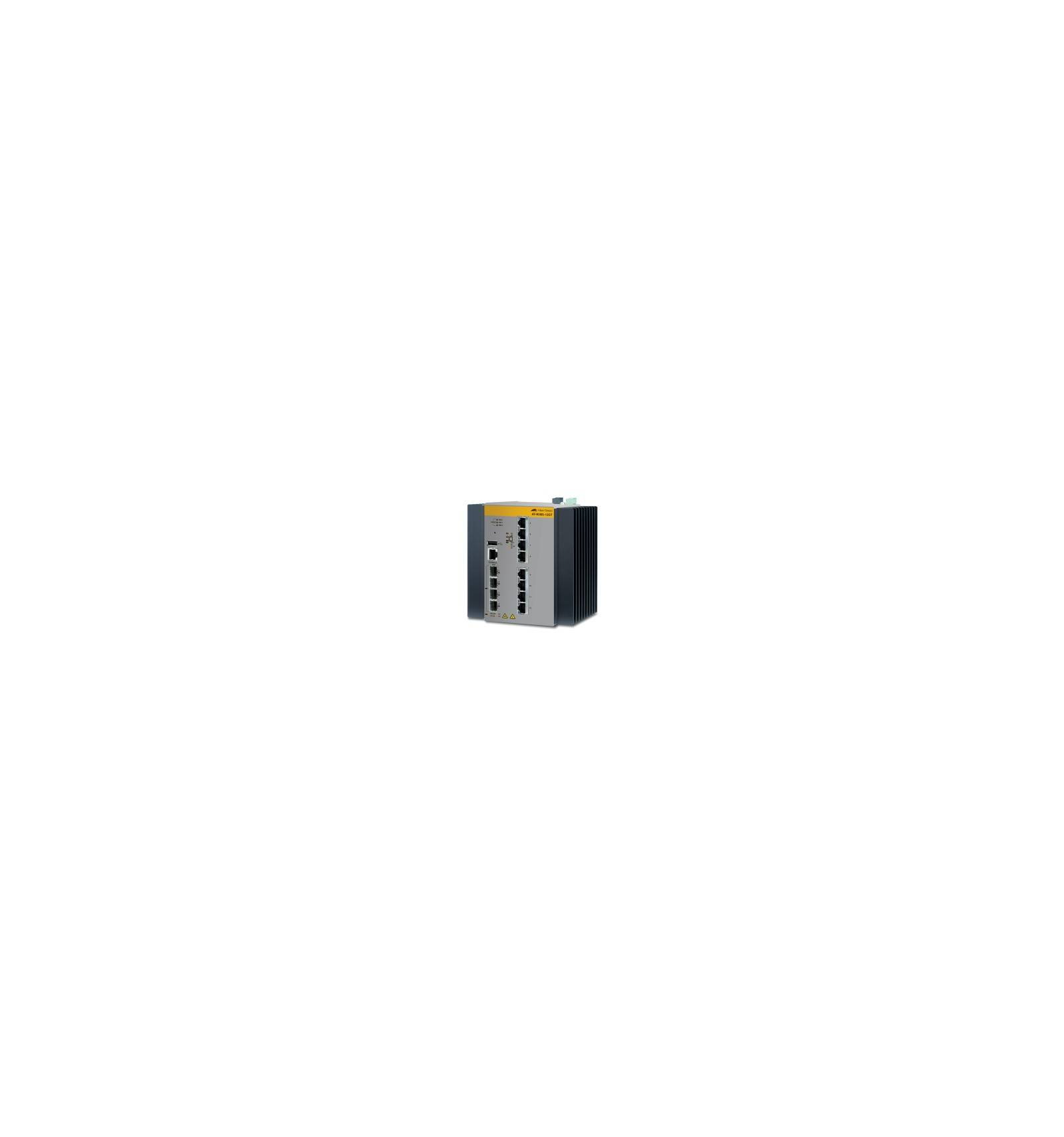Allied Telesis AT-IE300-12GT-80 Managed network switch L3 Gigabit Ethernet (10/100/1000) Musta, Harmaa