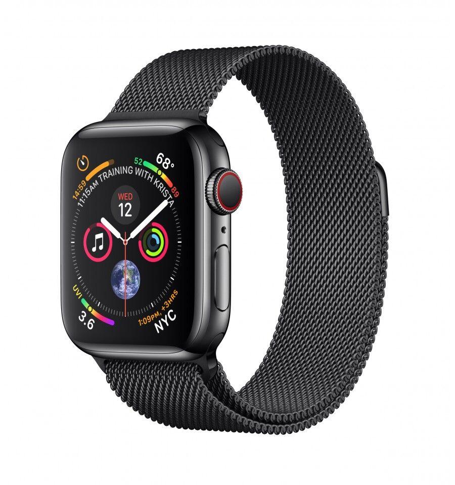 Apple Watch Series 4 älykello Musta OLED Solu GPS (satelliitti)